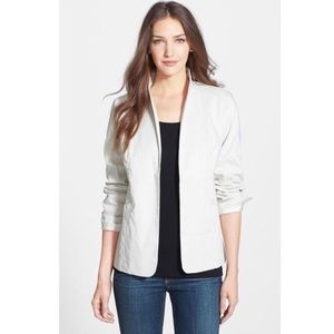 $348 Eileen Fisher Polished Ramie Blazer Jacket 8